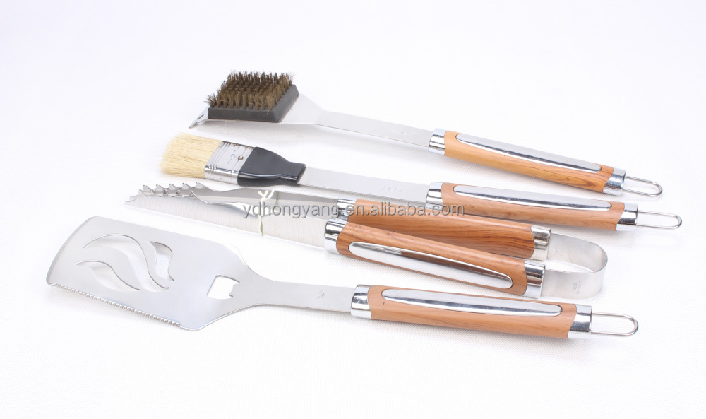 top grade stainless steel 4pcs bbq tools set