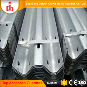 Top Accessed Guardrail Supplier / Two waves Corrugated Beams temporary safety railing cable guardrail used guardrail for sale