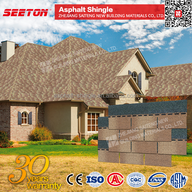 Desert Tan Building Material 5-tab asphalt shingle
