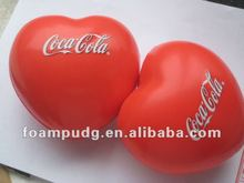 PU stress heart shape ball/custom stress ball