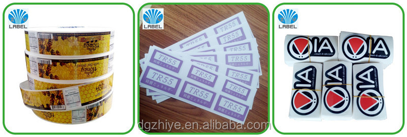 High quality waterproof round logo sticker for food