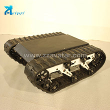 Fast delivery tank rubber track chassis robot synthetic running material for wholesale