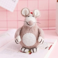 New design Miniature Animal Felt rat for 2020 Christmas decoration