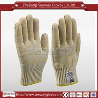 Seeway Yellow Aramid White Cotton Liner Kitchen Cooking Hand Gloves