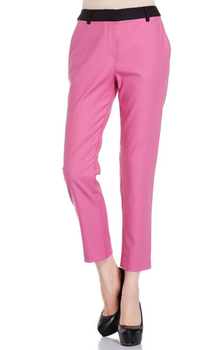 Fashion women pants splicing waistband pants wholesale