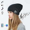Adult Unisex Beanie Hat Cap with Wireless Bluetooth Headphone Headset Earphone Music Audio Hands-free Phone Call for Winter Spo