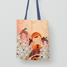shopping websites yellow eco organic cotton christmas bag