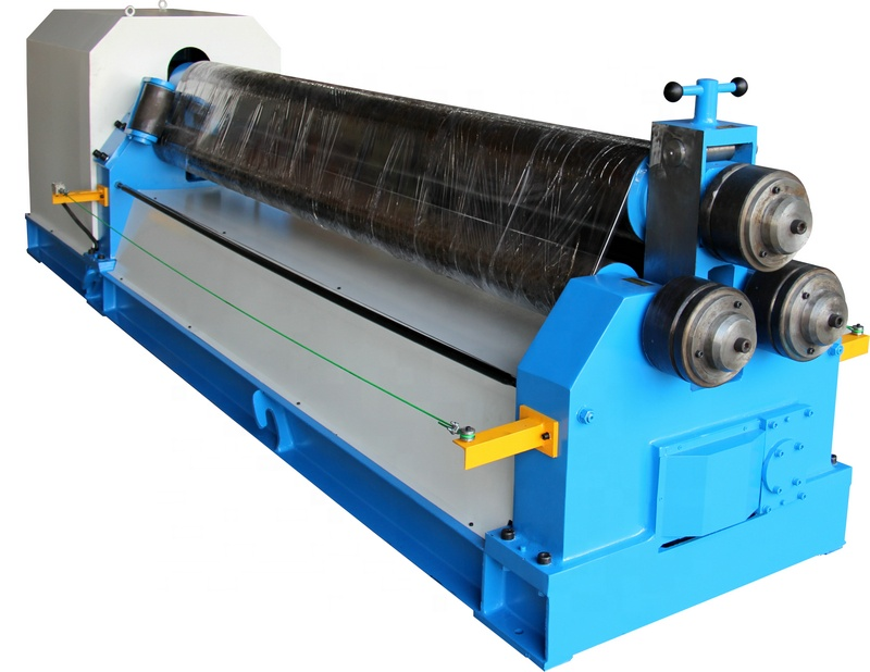 Steel plate 3 <strong>roller</strong> rolling machine 25mm steel sheet rolling and bending machine