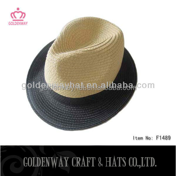 promotional fedora trilby hats cheap paper straw boater hats