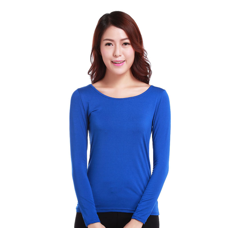 long sleeve tight t shirt for women