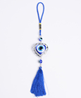 Luxury Amazon ebay Key Chain Car Decoration Hanging with Blue Lucky Heart Pendant Tassels Evil Eye Wall Hangers