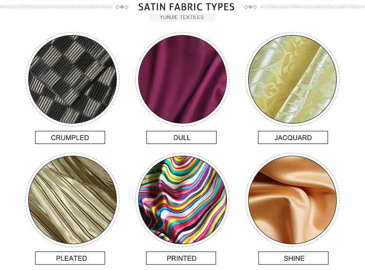 wholesale satin fabric by the yard,cheap 100% polyester satin fabric