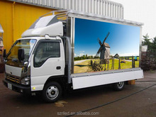 Outdoor mobile P10 led display advertising vehicle,mobile truck led advertising led screen