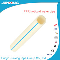 JunXing brand white colour ppr pipe for hot water meet European market's requirements