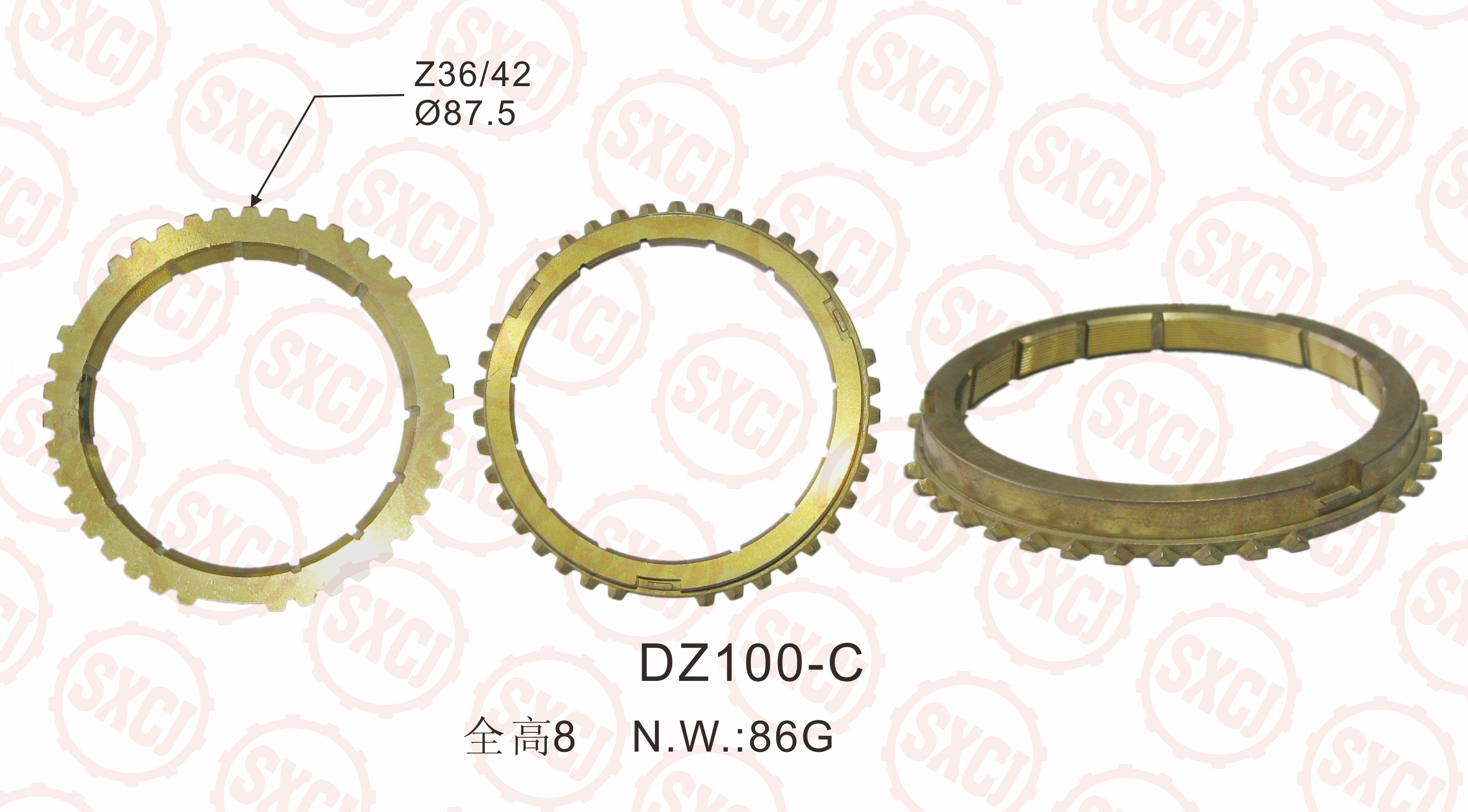 Auto parts transfer case gear ring OEM M5R2-14