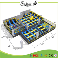 commercial trampolines park with many games like ninja course newest trampoline park