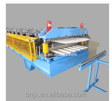 Double Layer Color Steel Trapezoidal Roof panel Roll Forming Machine/mosaic tile making machine