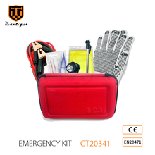 21 Pcs Hot Sales Wholesales Car Accessories Roadside Assistant Kit Safety Vest Roadside Emergency Kit Mini Emergency Kit