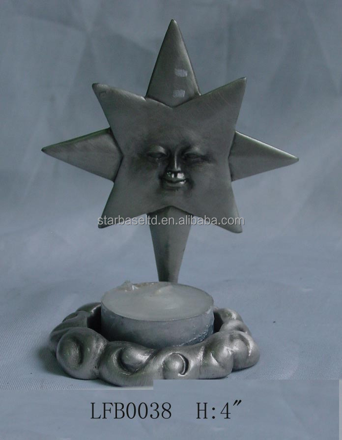 Cute design nice custom pewter plate candle holders