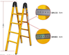 frp ladder of different size using,FRP Insulation Ladder