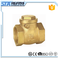 ART.4007 Supplier Direct Factory Price 2 1/2 inch Brass Horizontal Swing Check Valve For Air Compressor With CE Made In China