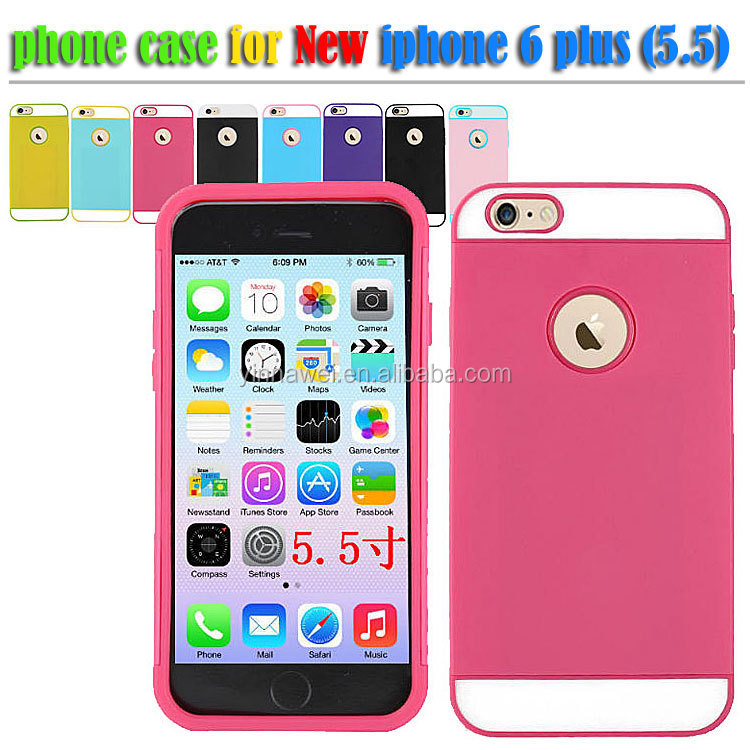 For Apple iPhone 6 Case, Slim Armor Case For iphone 6 plus, 2 in 1 PC Silicone Combo Case