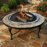 Mosaic Tile Fire Pit Table