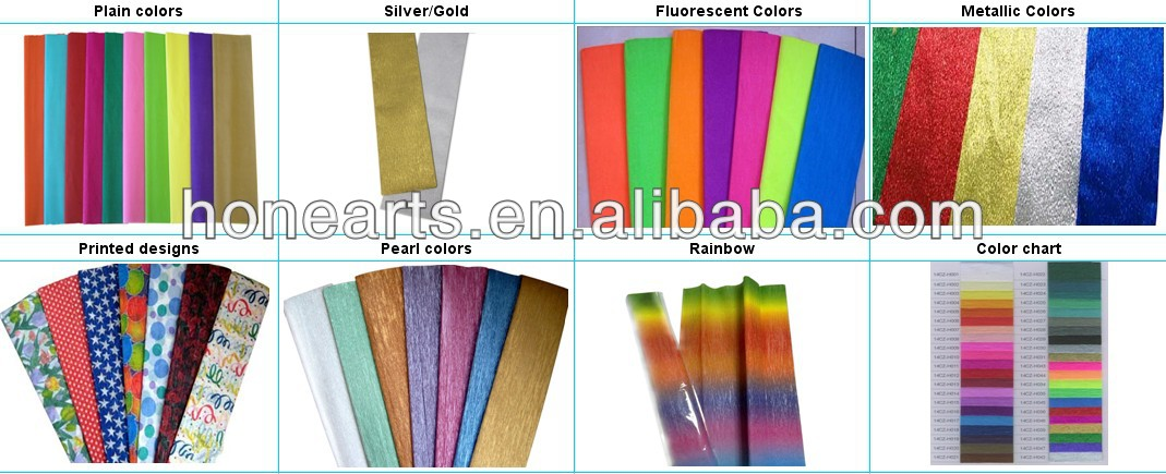 50x180cm paper crepe sheet,color craft crepe paper roll
