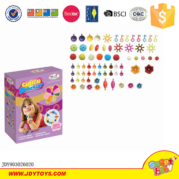New product DIY plastic pop jewelry bead toy kit for kids