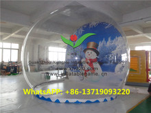 Big christmas outdoor or indoor snow globe inflatable for sale 5x5m