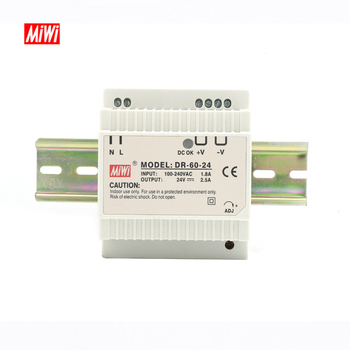 MiWi DR-60-24 2.5A 60W DC 24V Din Rail Switching Power Supply