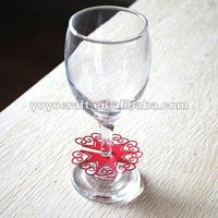 Popular unique place cards on the bottom of wine glass party decoration from YOYO craft