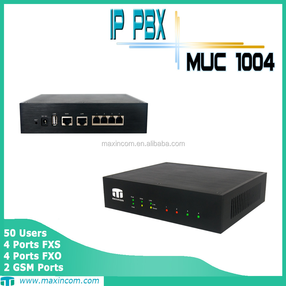 wireless pbx system/pbx system price/big discount off ip pbx with 4 FXS ports pbx phone system