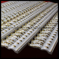 1.2meter ceiling decorative moulding PU material white with gold paint Crown Moulding