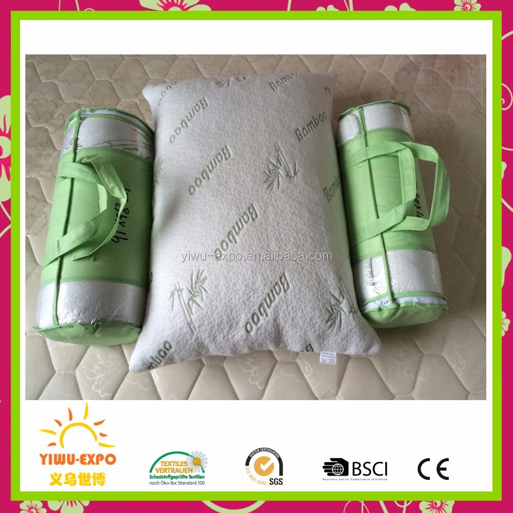 Wholesale bamboo pillows hotel Comfort Hypoallergenic Bamboo foam pillows bamboo Shredded Memory Foam Pillow