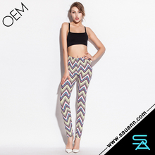 Fashional Wholesale Chevron Wave Printed Women Legging
