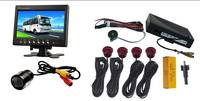 Rearview parking sensor integrated system with 4pcs sensors
