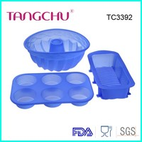 3 Set Silicone Mold High Temperature Easy Baking Moulds Food-grade Cake Fondant Moulds New Design