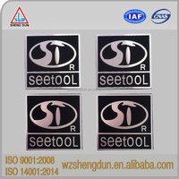 high quality metal nameplate with adhesive