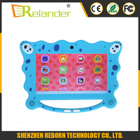 7 Inch A33 Quad Core Children Tablet Exclusive wifi&bluetooth SpongeBob Design Tablets For Kids