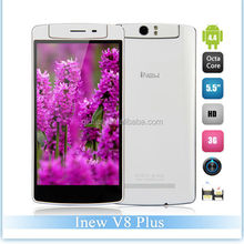 Wholesale Inew V8 Plus smartphone MTK6591T,Hexa Core mobile phone 5.5'' IPS Android 4.4 2GB RAM 16GB ROM