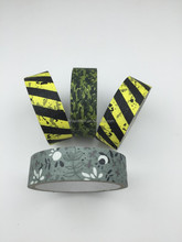 multi design bionic camouflage cloth adhesive duct tape elastic cotton hunting camo tape for outdoors