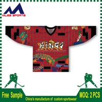Latest custom made cheap sublimated ice hockey jersey