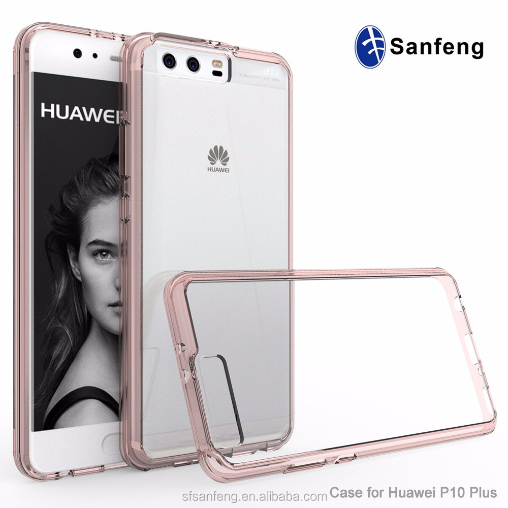 P10 Plus Mobile Phone Case, Transparent Clear TPU Bumper Cellphone Cover For Huawei P10 Plus