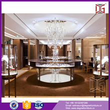 Luxury round glass jewelry display table