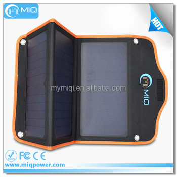 MIQ 21W folding flexible solar panel charger with 2 USB ports 5V 2.1A