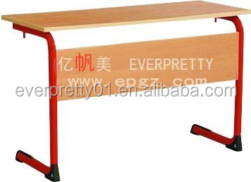 Customized School Furniture Classroom Student Wooden Double Desk