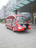 19 seats electric tourist bus with cartoon design