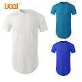 China Manufacturer Plain Custom Long Tee,Mens Curved Hem T shirt,Tall Longline Slim Fit T-shirt