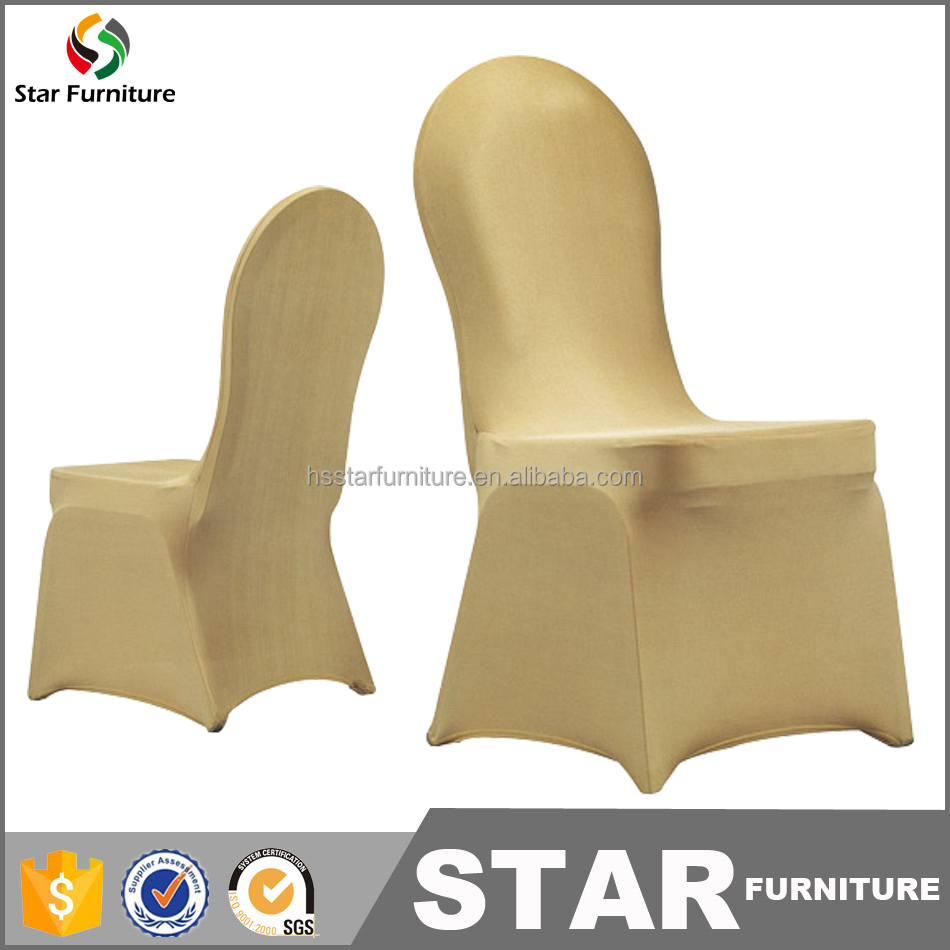 wholesale cheap universal gold spandex chair covers lycra